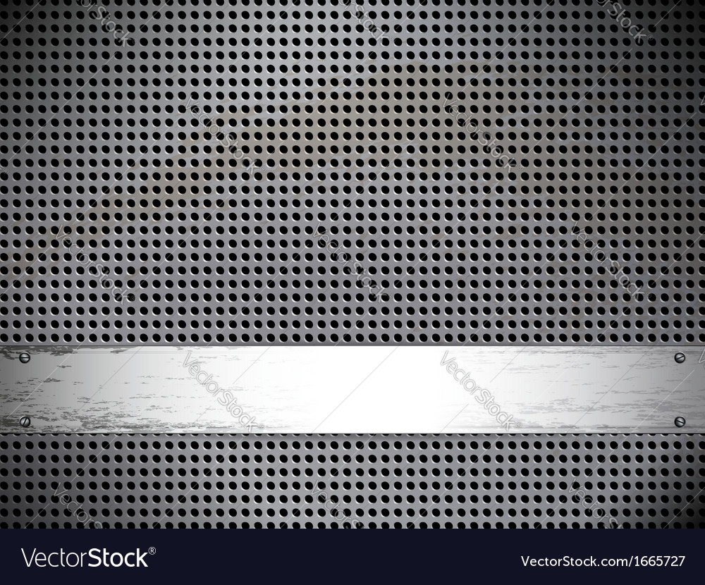 Round cell metal background card vector | Price: 1 Credit (USD $1)