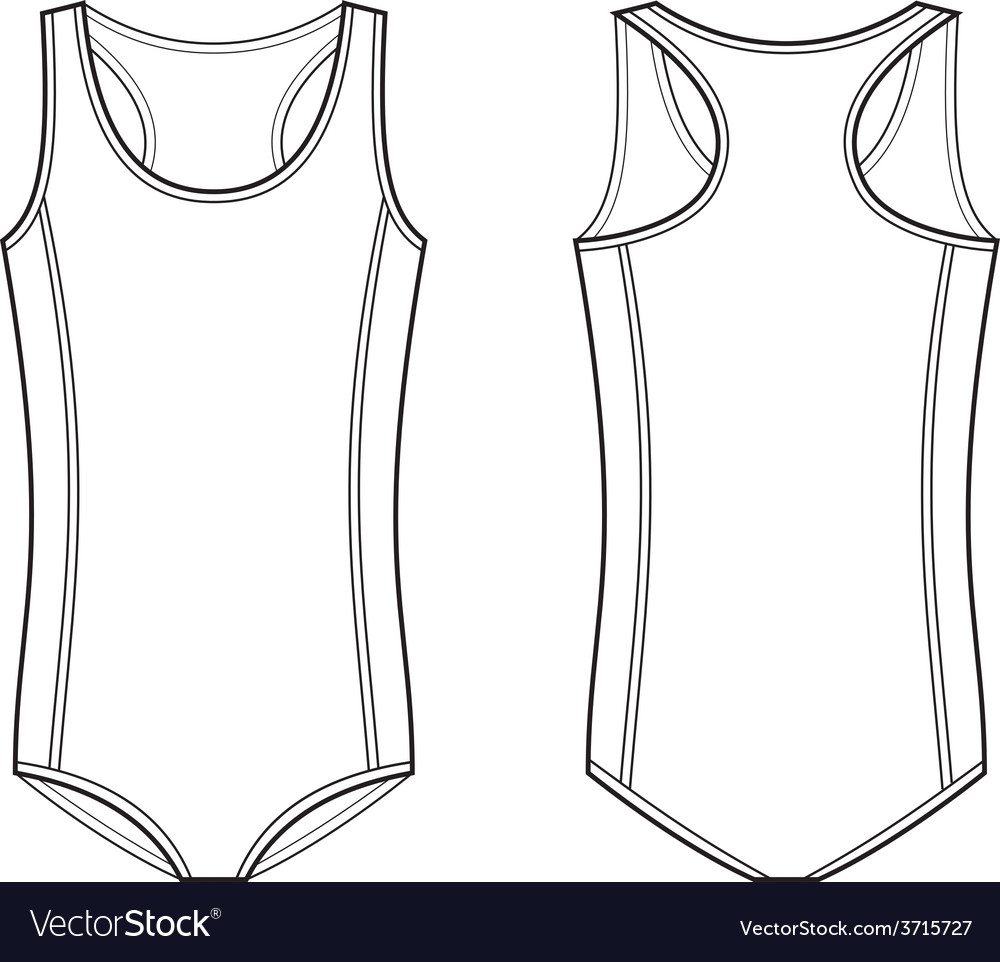 Sport swimsuit vector | Price: 1 Credit (USD $1)