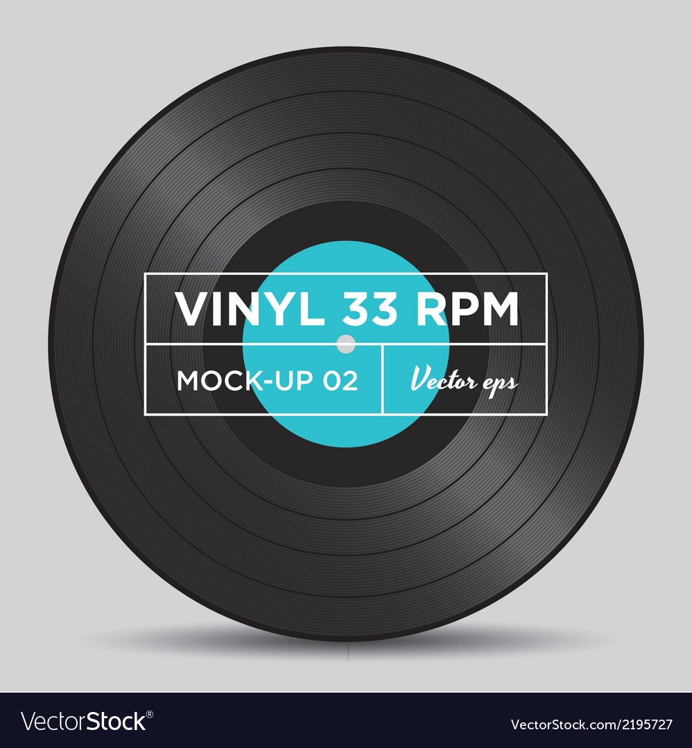 Vinyl 33 rpm mockup 02 vector | Price: 1 Credit (USD $1)