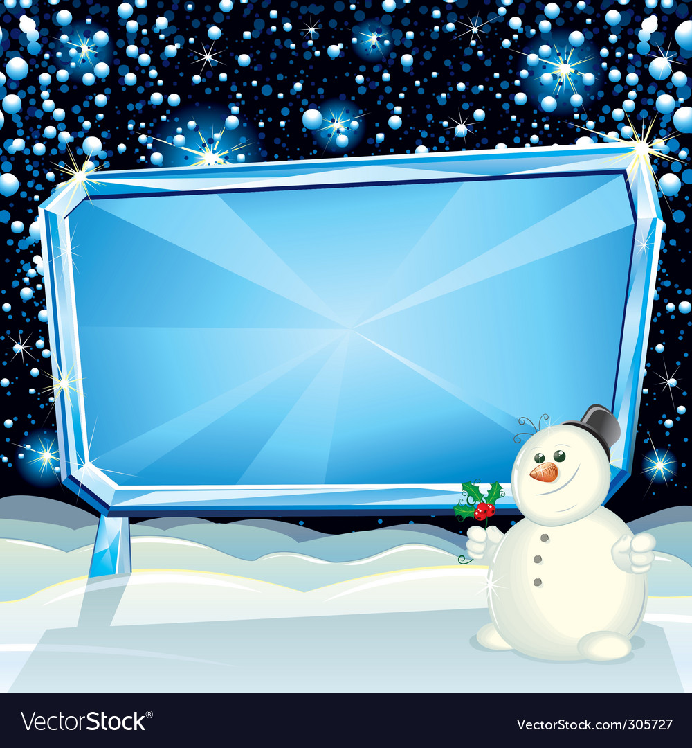Xmas billboard vector | Price: 3 Credit (USD $3)