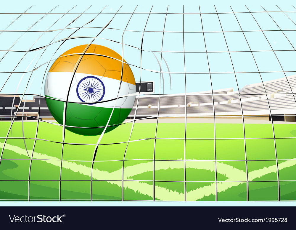A ball with the flag of india vector | Price: 3 Credit (USD $3)