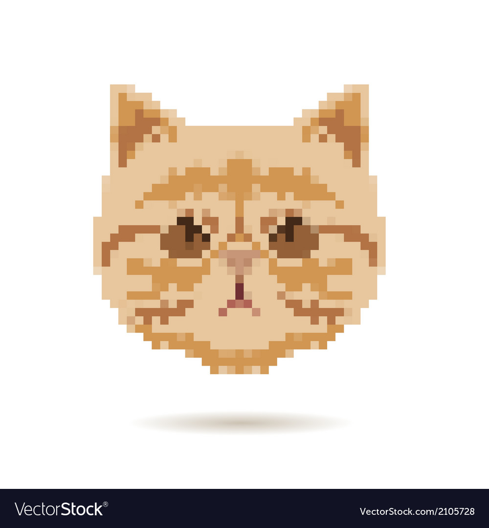 Cat head abstract isolated vector | Price: 1 Credit (USD $1)