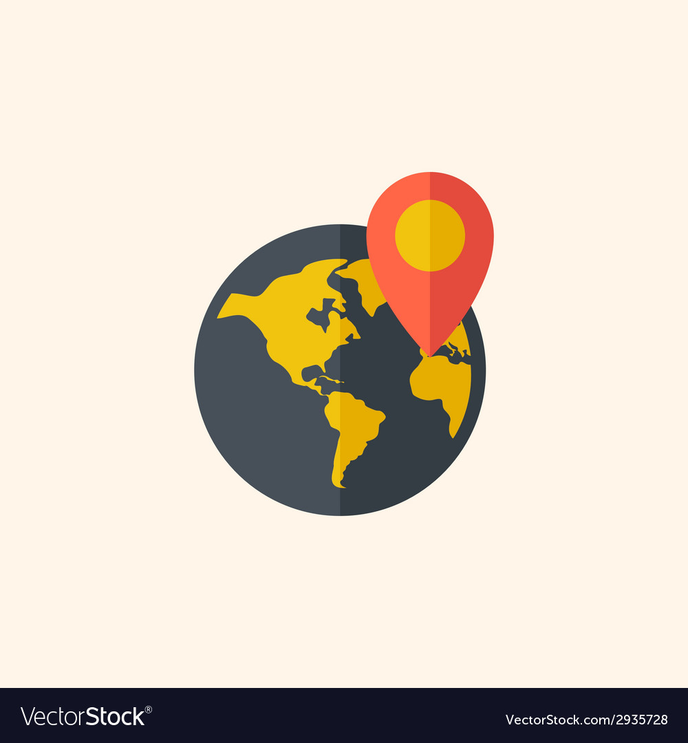 Earth travel flat icon vector | Price: 1 Credit (USD $1)