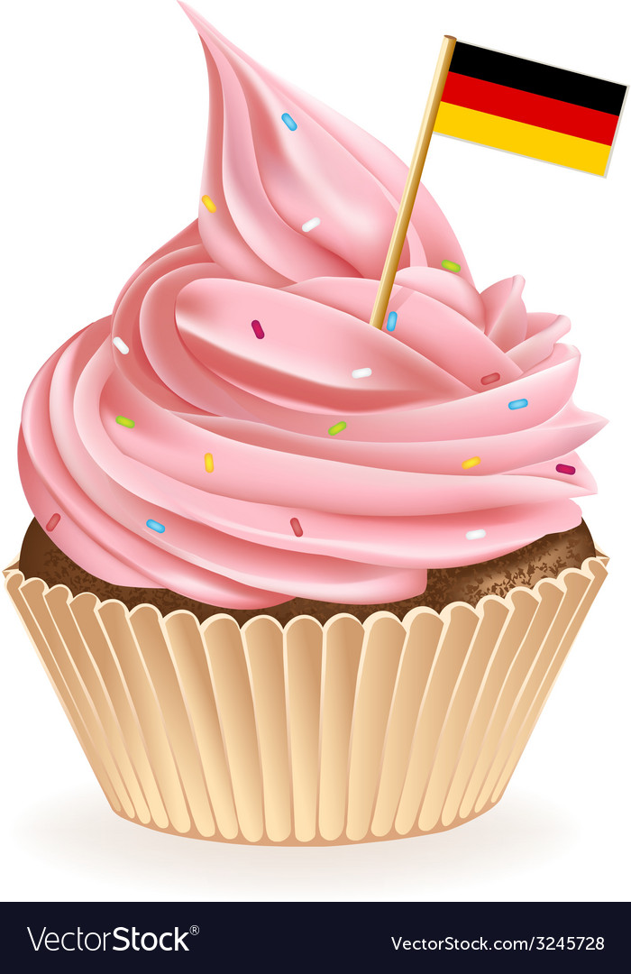 German cupcake vector | Price: 1 Credit (USD $1)