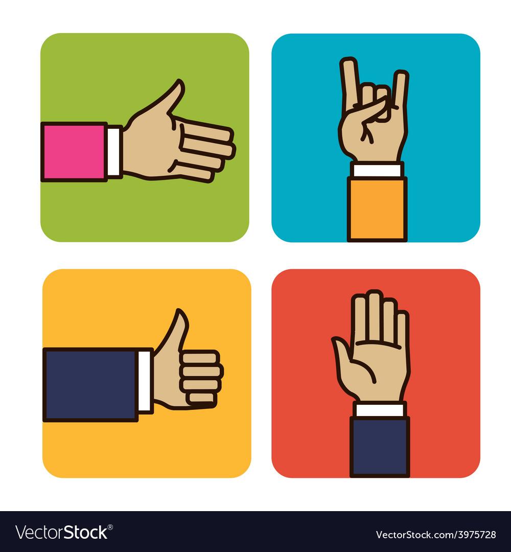 Hands signals vector | Price: 1 Credit (USD $1)