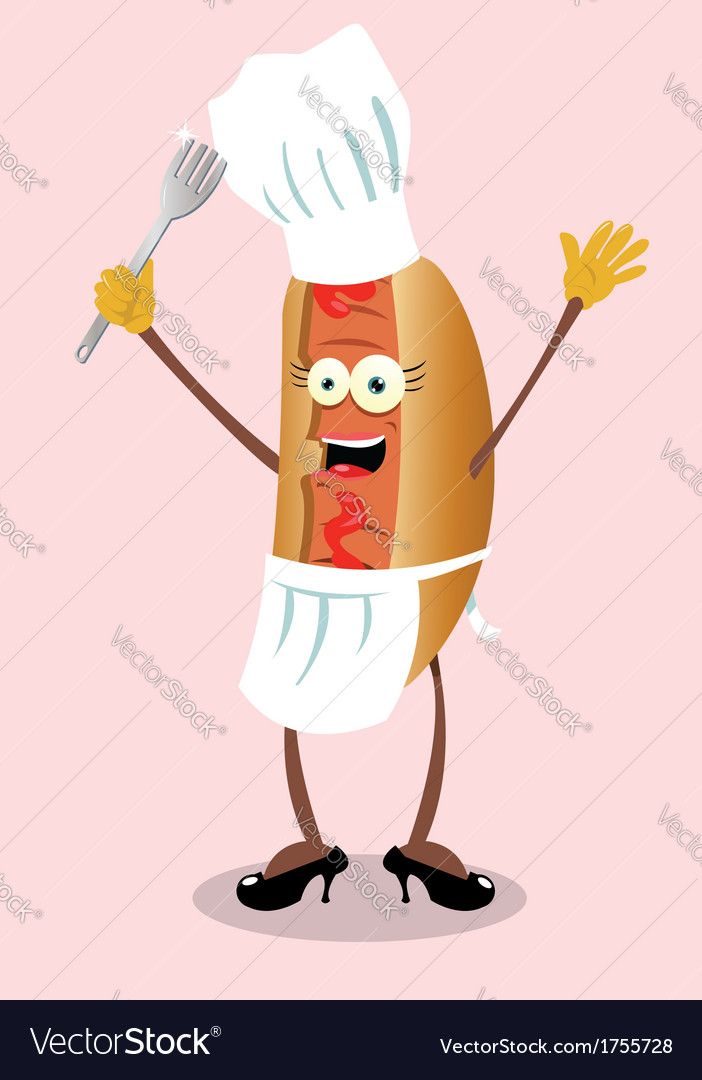 Miss hot dog vector | Price: 1 Credit (USD $1)