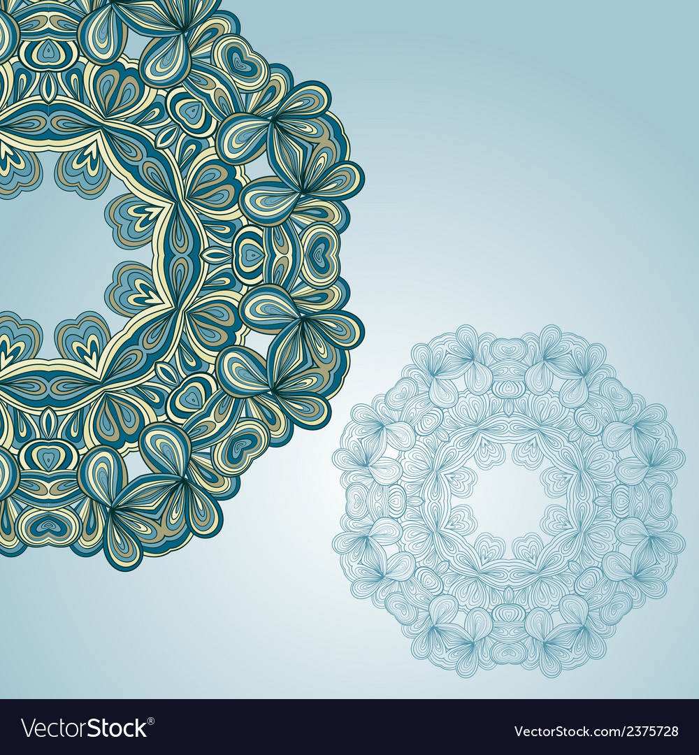 Ornamental round lace pattern vector | Price: 1 Credit (USD $1)