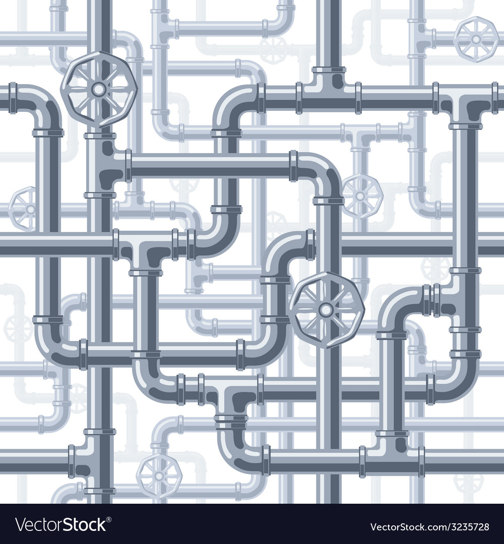 Pipes on white vector | Price: 1 Credit (USD $1)