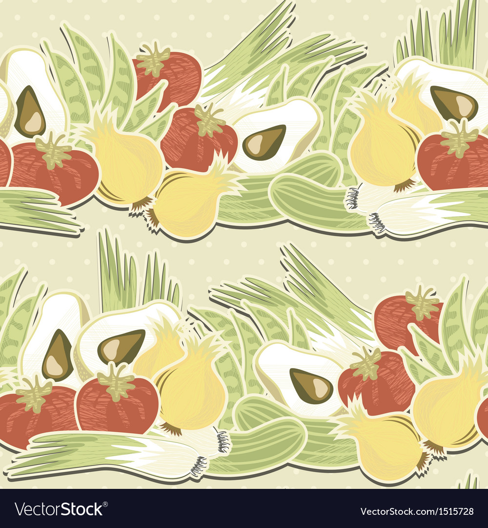 Vegetable polka dot seamless pattern vector | Price: 1 Credit (USD $1)