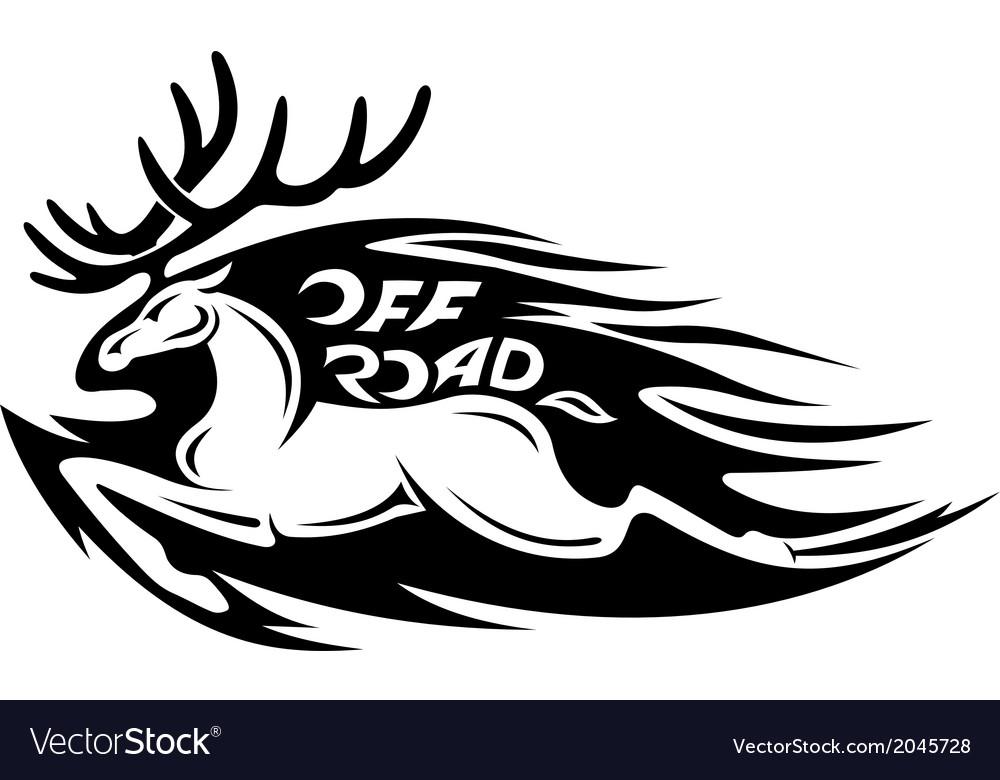 Wild deer vector | Price: 1 Credit (USD $1)
