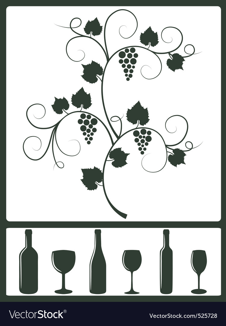 Winery design objects vector | Price: 1 Credit (USD $1)
