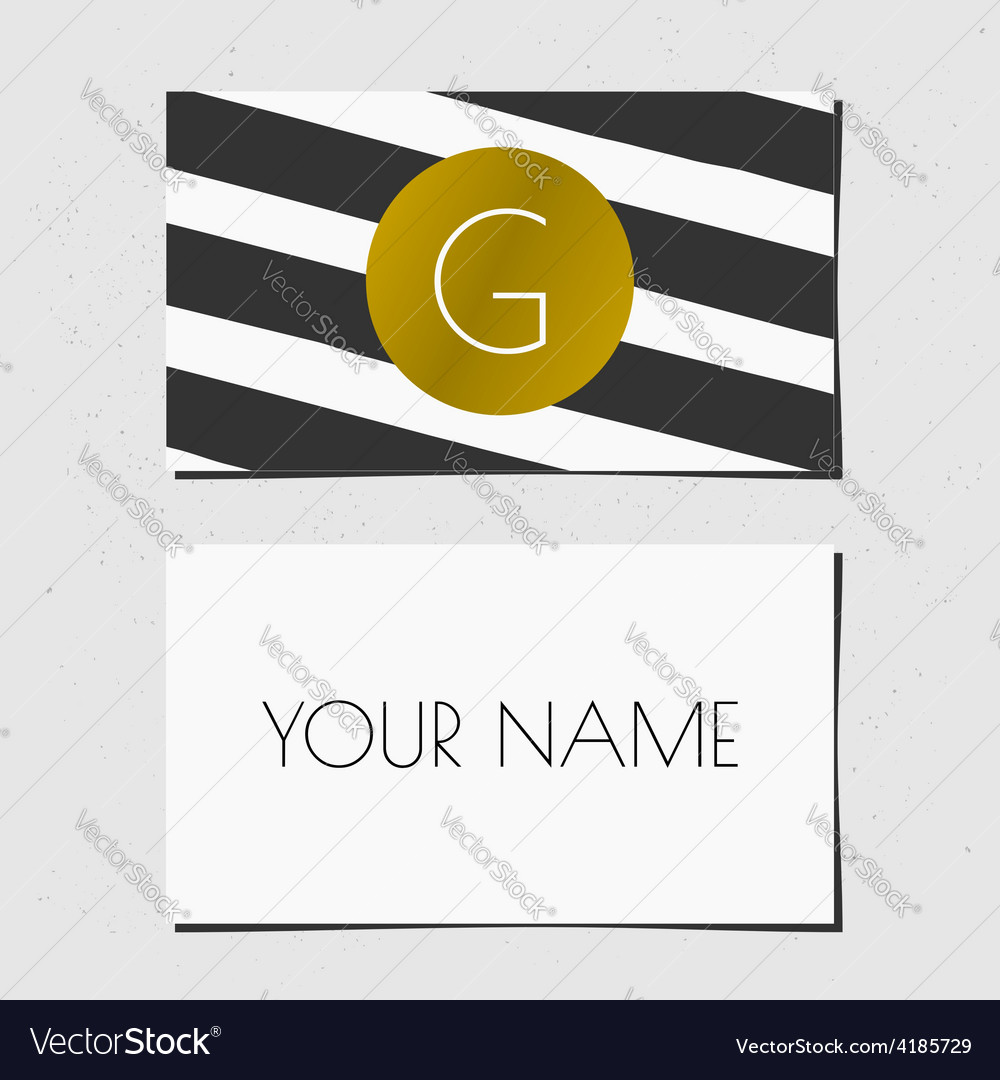 Business card template in golden black and white vector | Price: 1 Credit (USD $1)