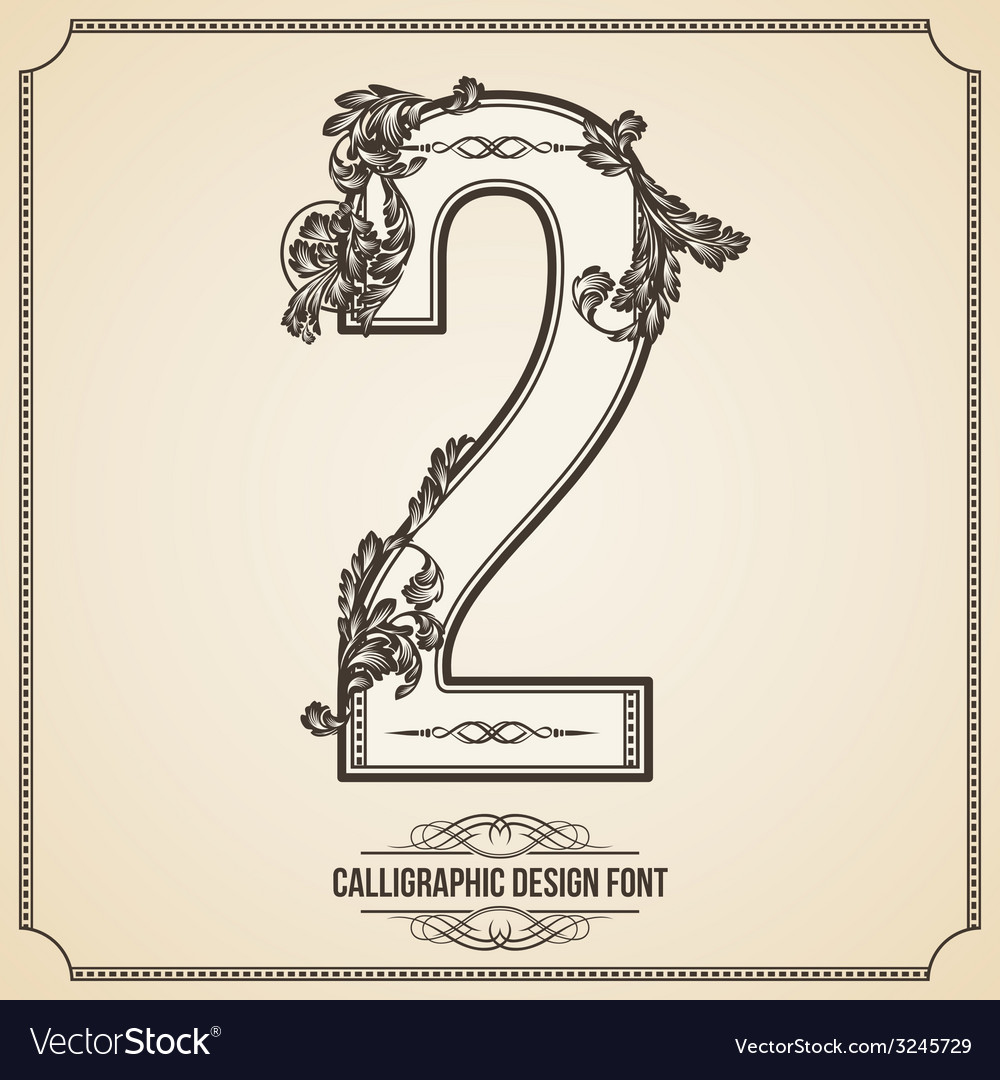 Calligraphic font number 2 vector | Price: 1 Credit (USD $1)