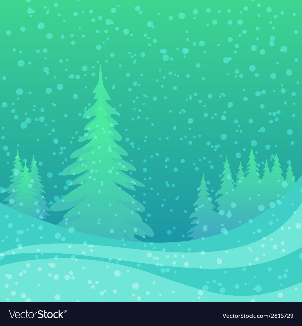 Christmas background winter forest vector | Price: 1 Credit (USD $1)