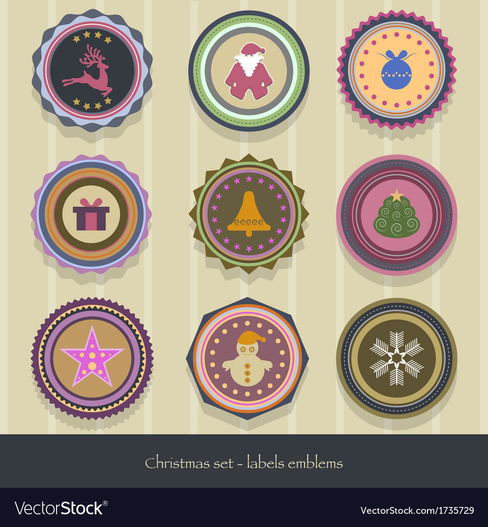 Christmas-labels vector | Price: 1 Credit (USD $1)