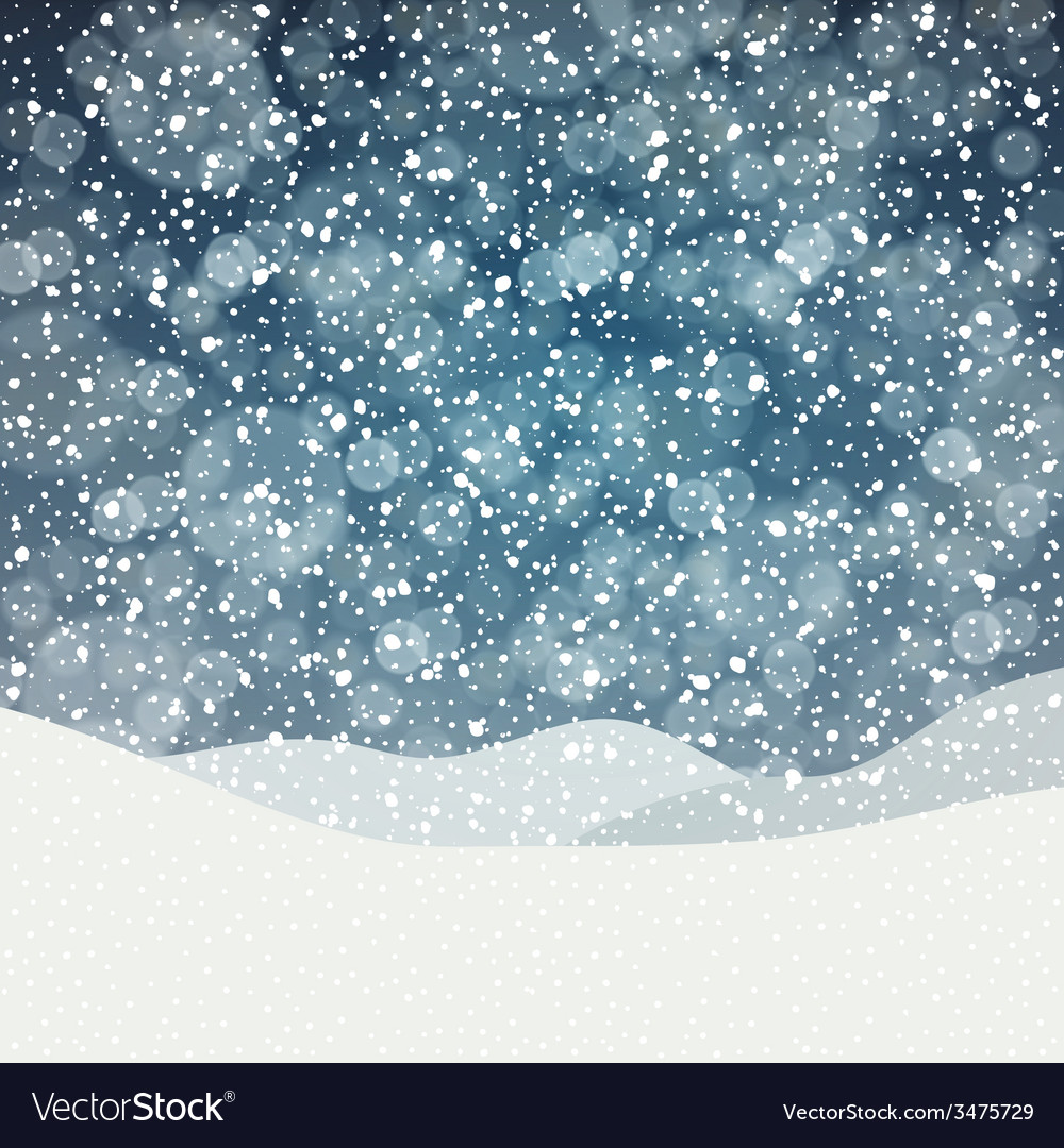 Falling snow vector | Price: 1 Credit (USD $1)
