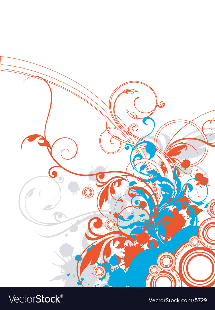 Floral graphic border vector | Price: 1 Credit (USD $1)