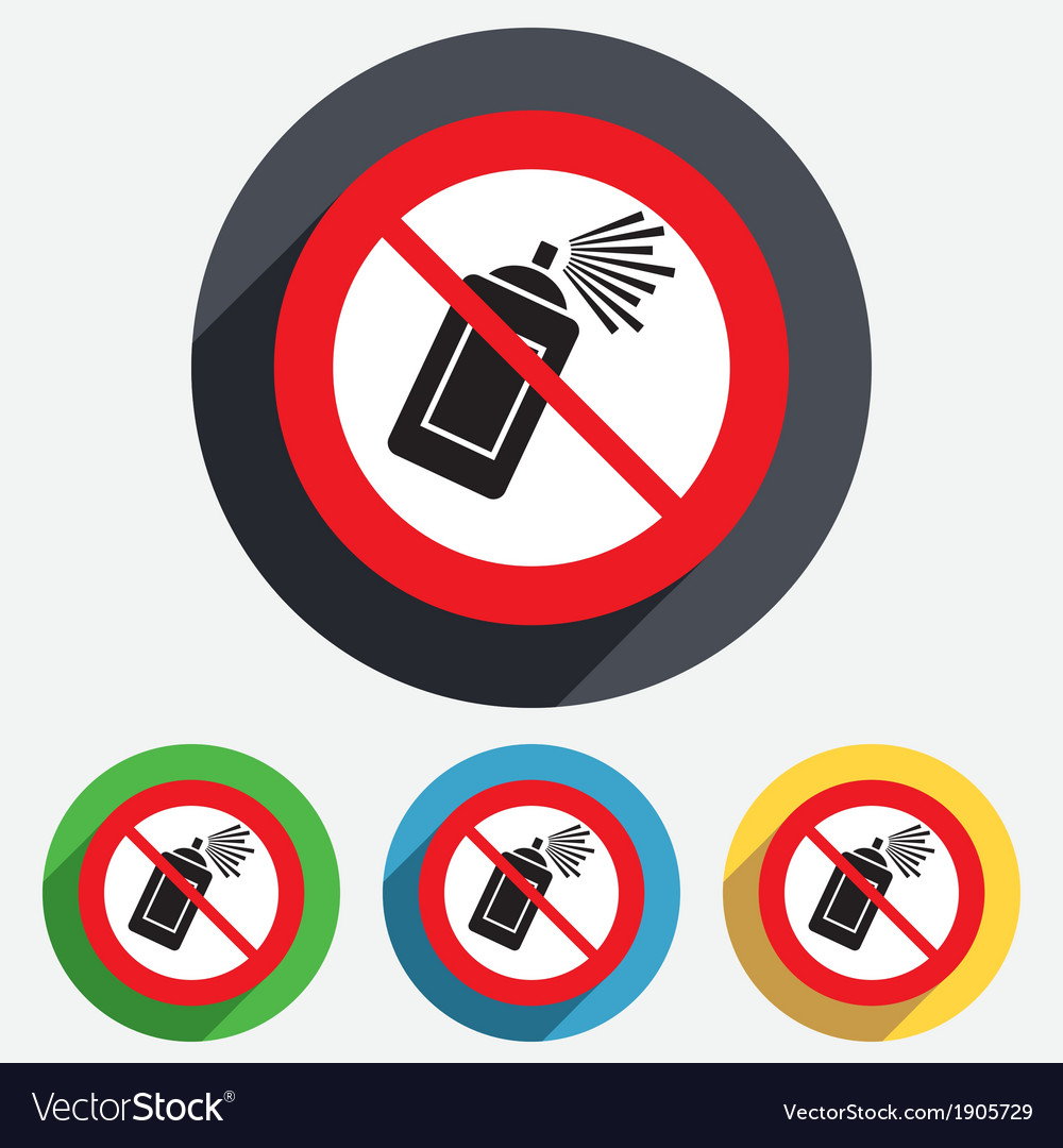 No graffiti spray can sign icon aerosol paint vector | Price: 1 Credit (USD $1)