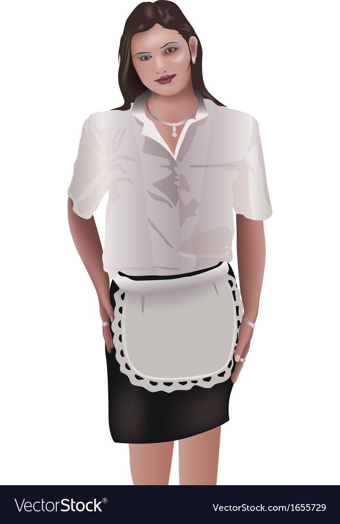 Waitress vector | Price: 1 Credit (USD $1)