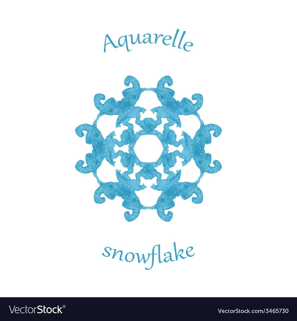 Aquarelle snowflake hand drawn watercolor winter vector   Price: 1 Credit (USD $1)