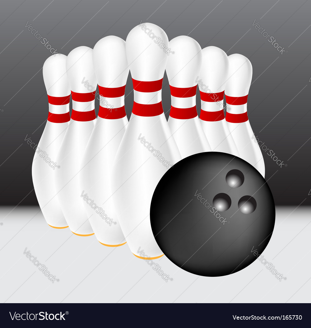 Bowling illustration vector | Price: 1 Credit (USD $1)