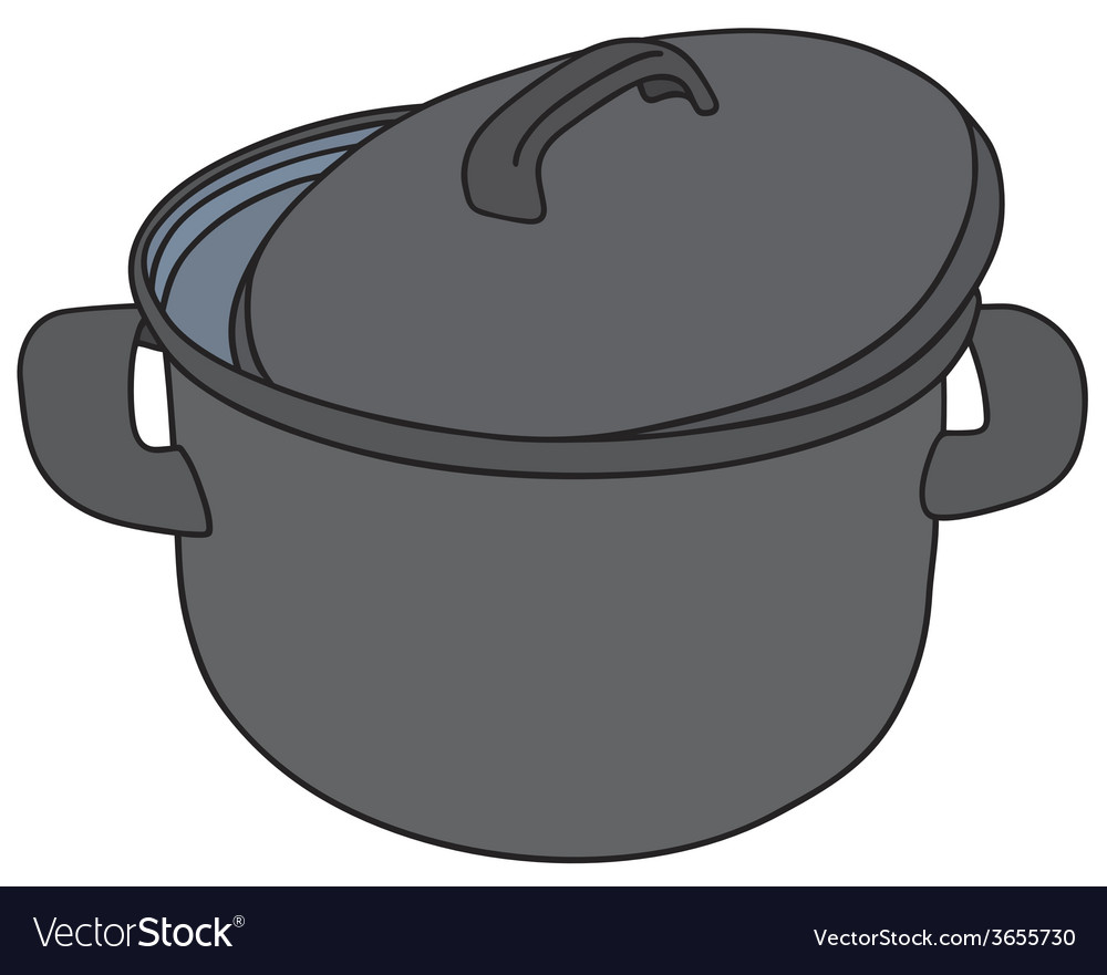 Classic black pot vector | Price: 1 Credit (USD $1)