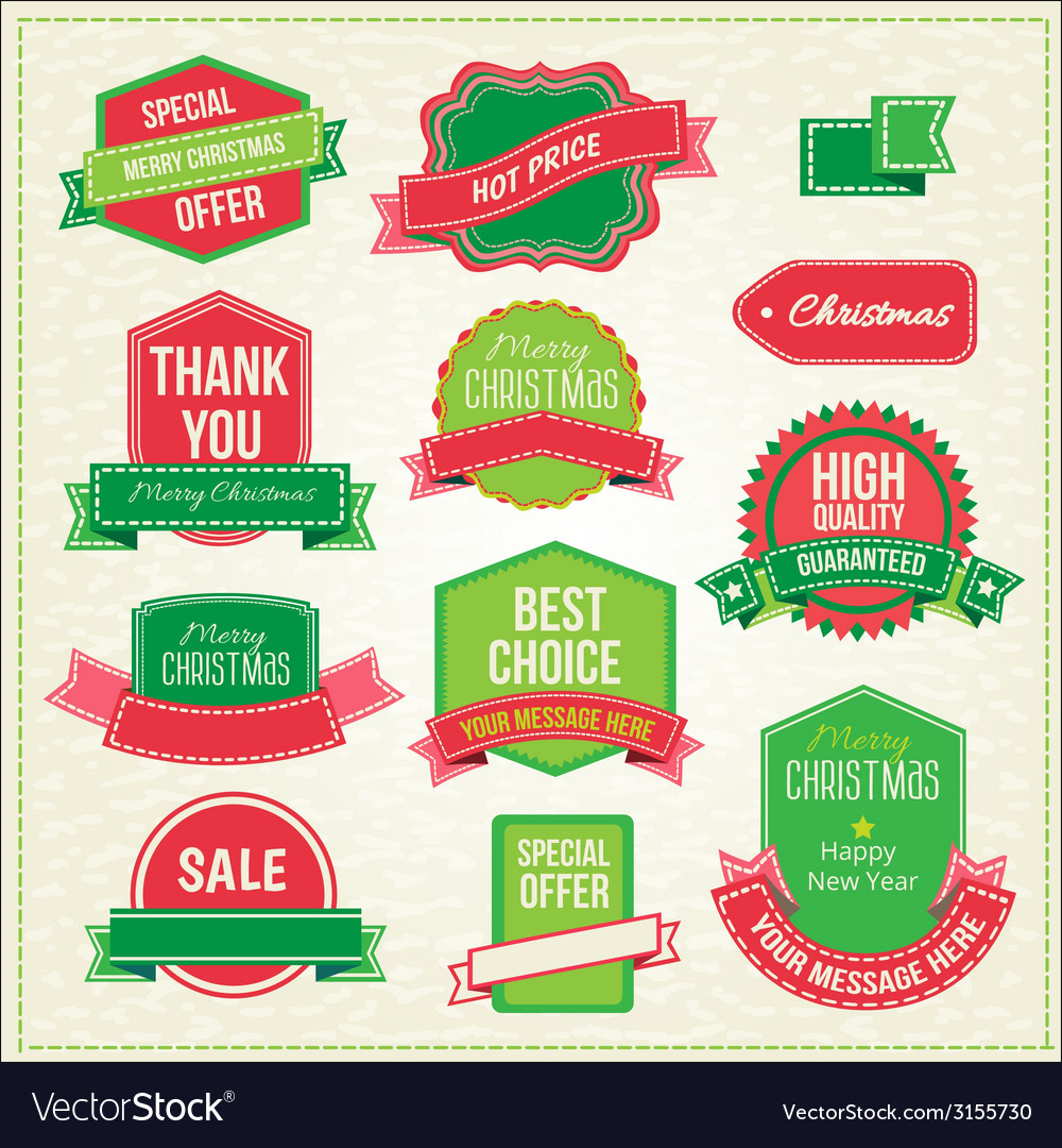 Collection of christmas ornaments and decorative vector | Price: 1 Credit (USD $1)