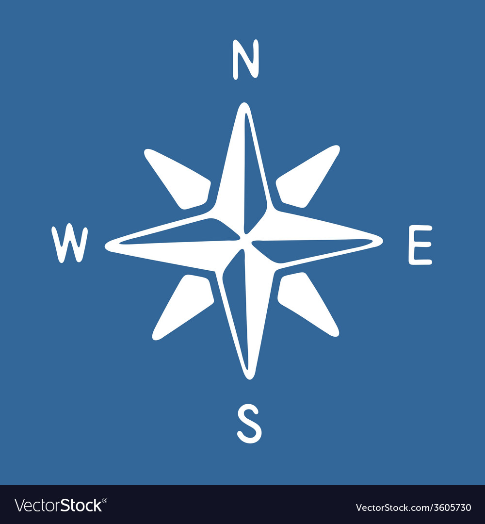 Compass rose icon vector | Price: 1 Credit (USD $1)