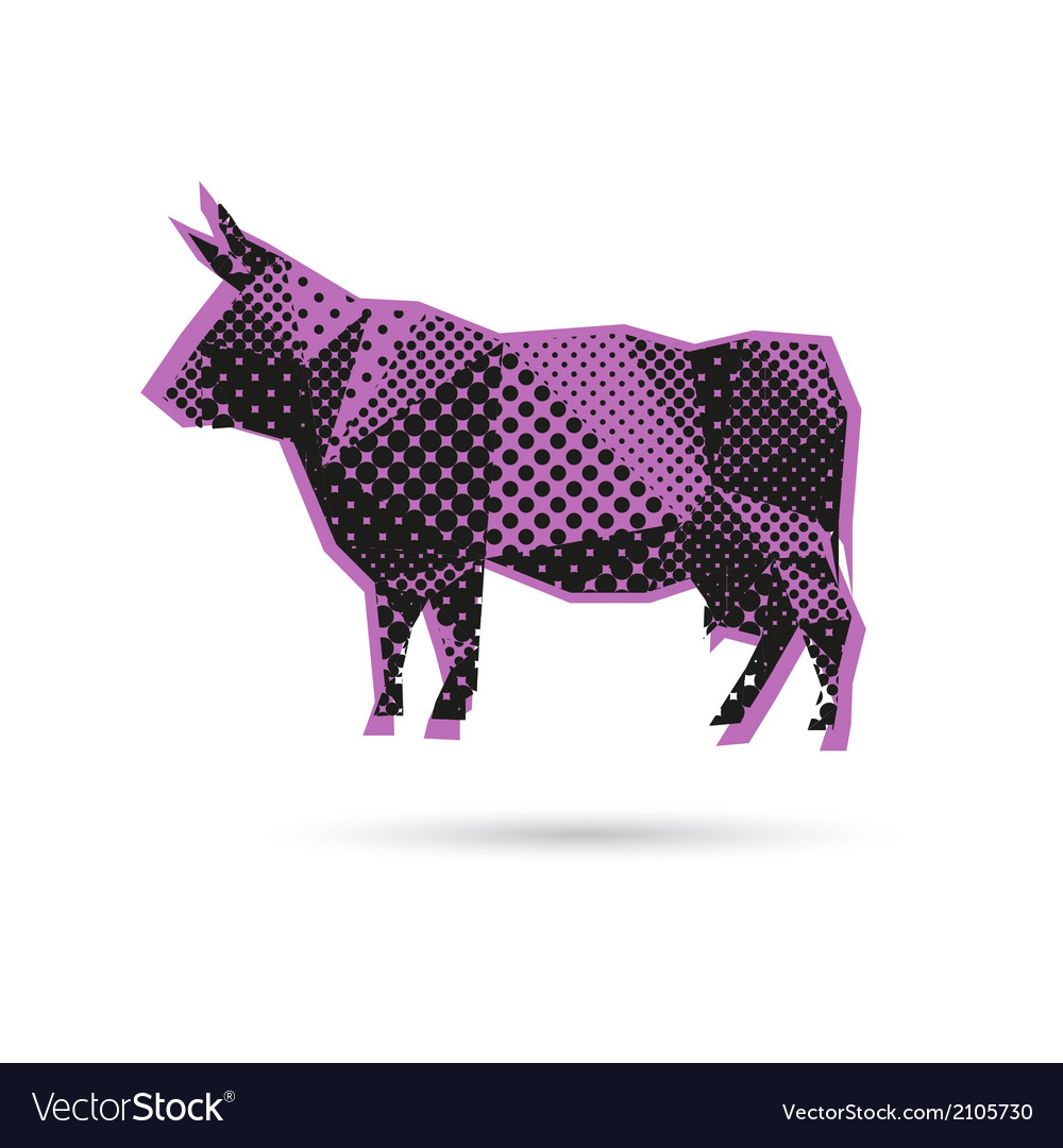 Cow abstract isolated vector | Price: 1 Credit (USD $1)