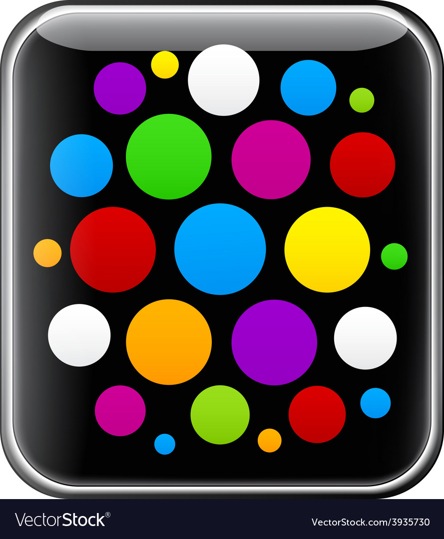 Glossy gadget with colorful circles vector | Price: 1 Credit (USD $1)