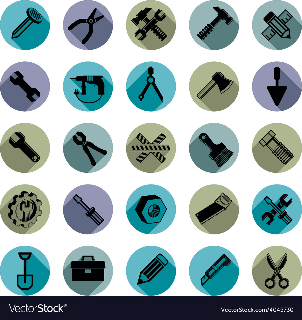 Highly detailed work tools collection carpentry vector | Price: 1 Credit (USD $1)