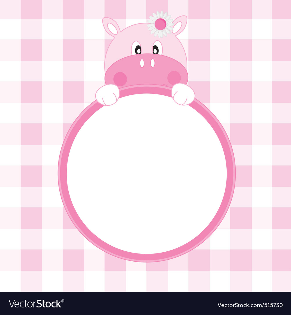 Hippo frame vector | Price: 1 Credit (USD $1)