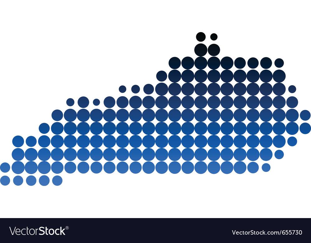 Map of kentucky vector   Price: 1 Credit (USD $1)