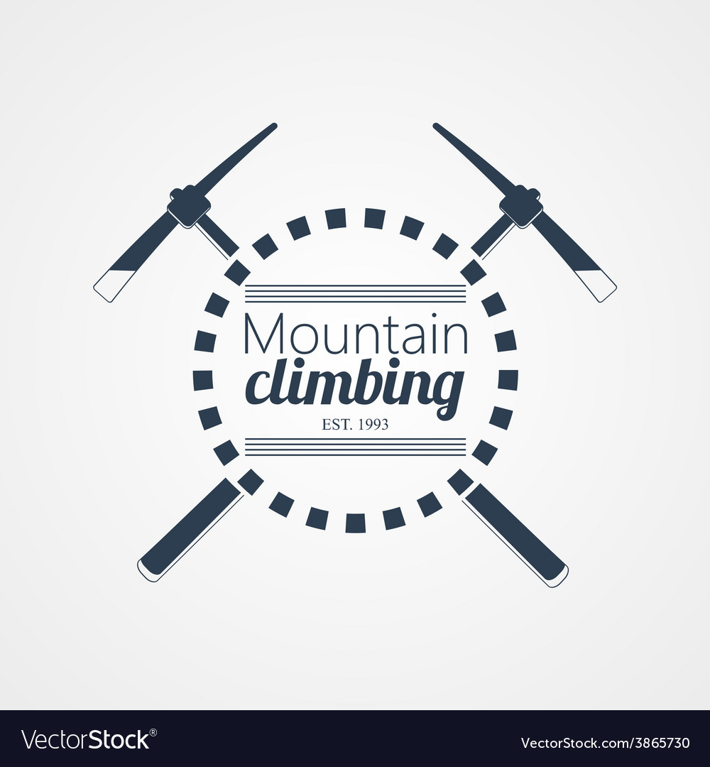 Mountain climbing logo vector | Price: 1 Credit (USD $1)