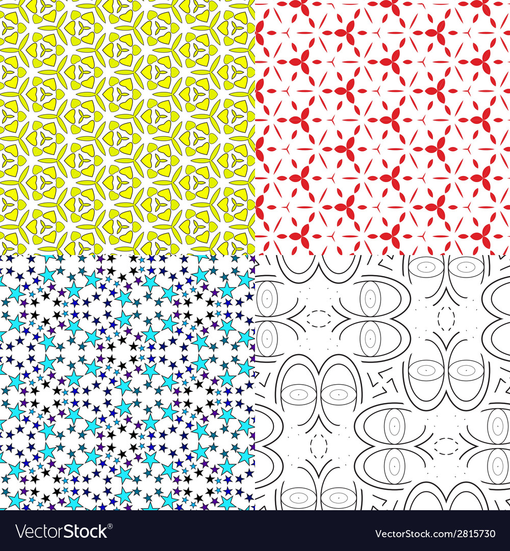 Set pattern - geometric seamless simple modern vector | Price: 1 Credit (USD $1)