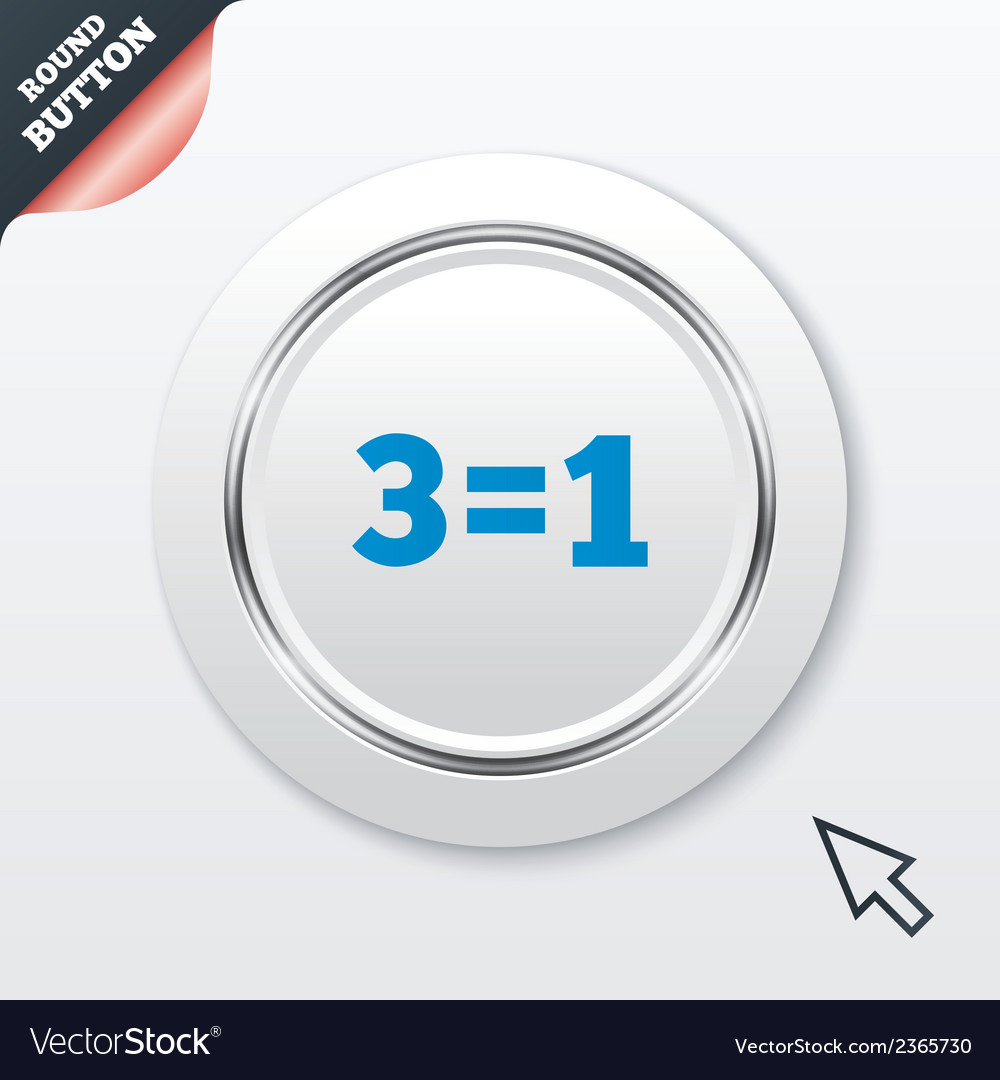 Three for one sign icon take three pay for one vector | Price: 1 Credit (USD $1)