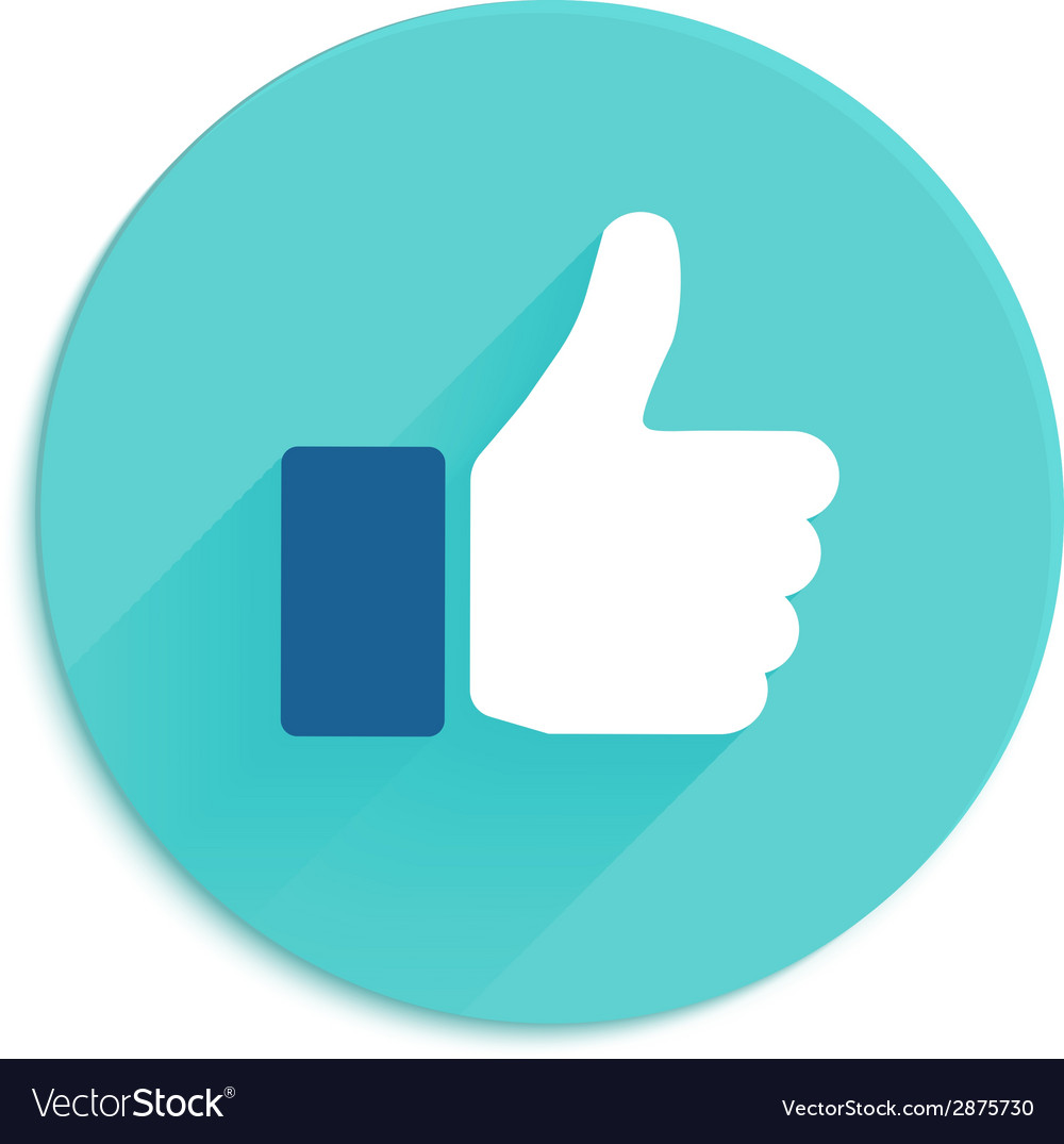 Thumbs up icon flat style vector | Price: 1 Credit (USD $1)