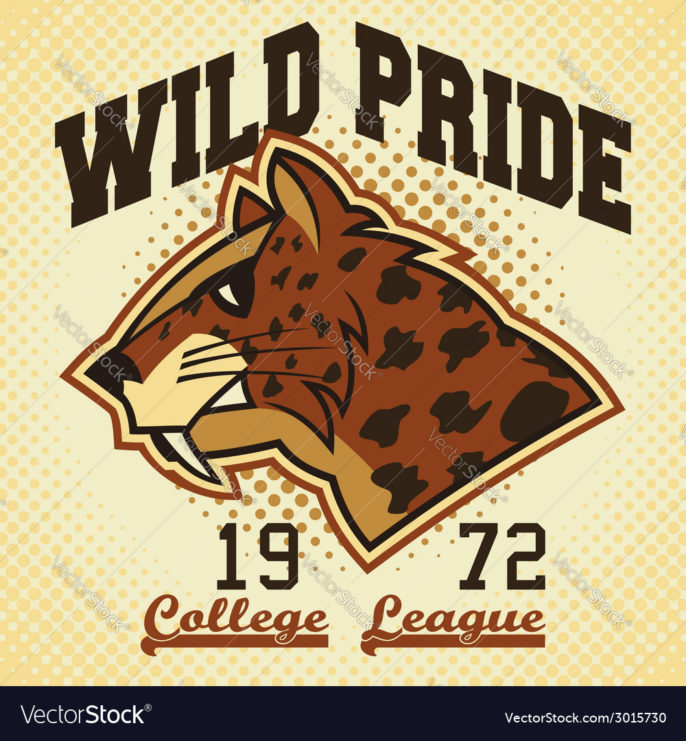 Wild pride sports mascot vector | Price: 1 Credit (USD $1)
