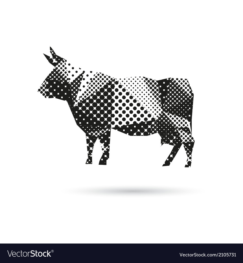 Cow abstract isolated vector   Price: 1 Credit (USD $1)