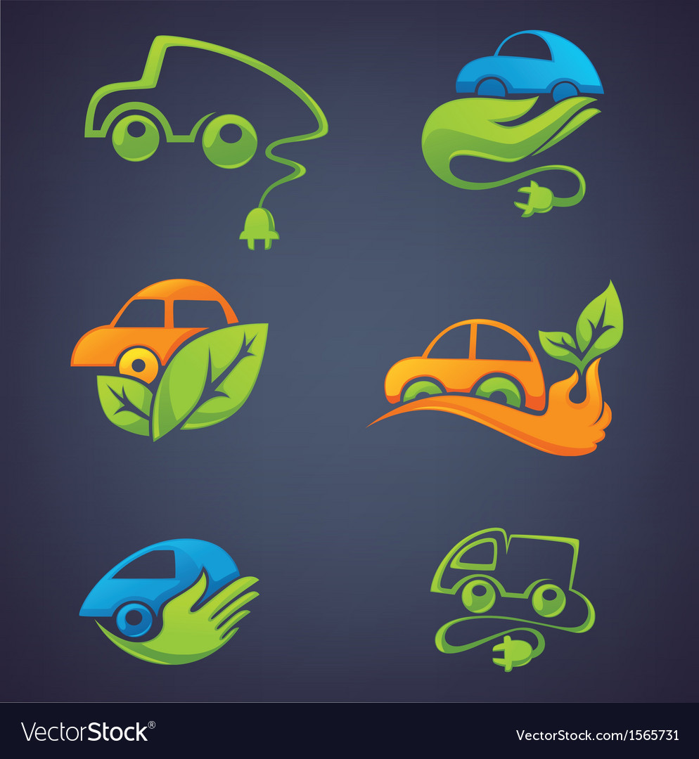 Ecological cars vector | Price: 1 Credit (USD $1)