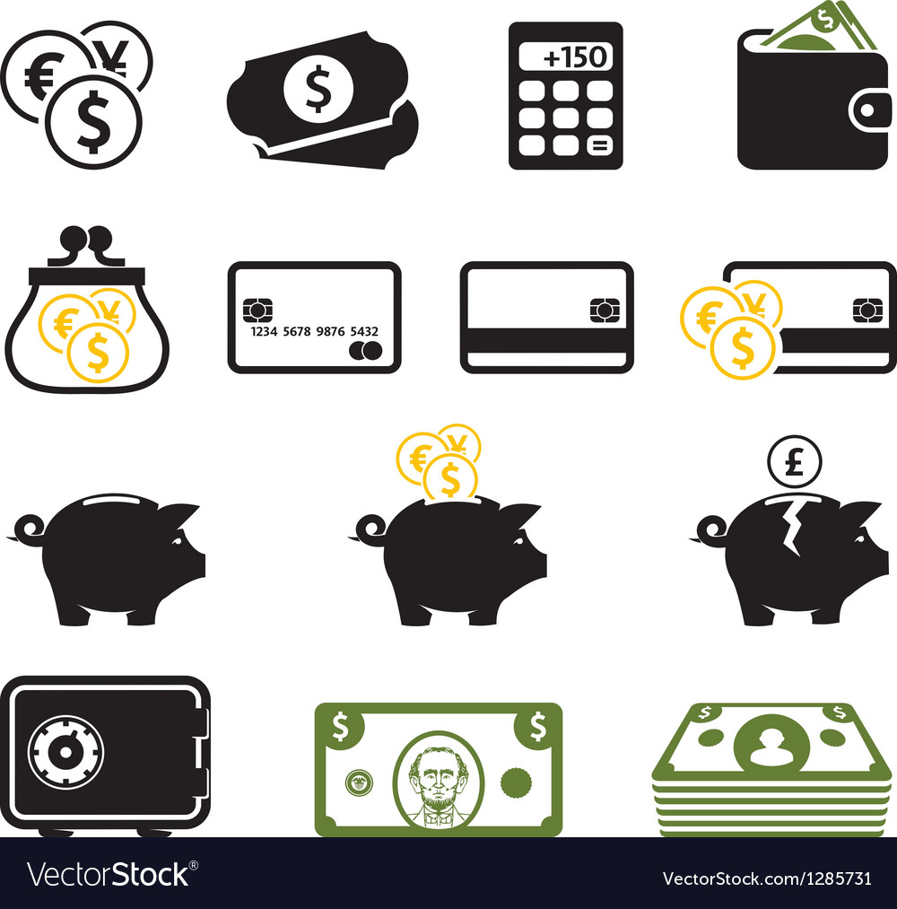 Finance symbols set vector | Price: 1 Credit (USD $1)