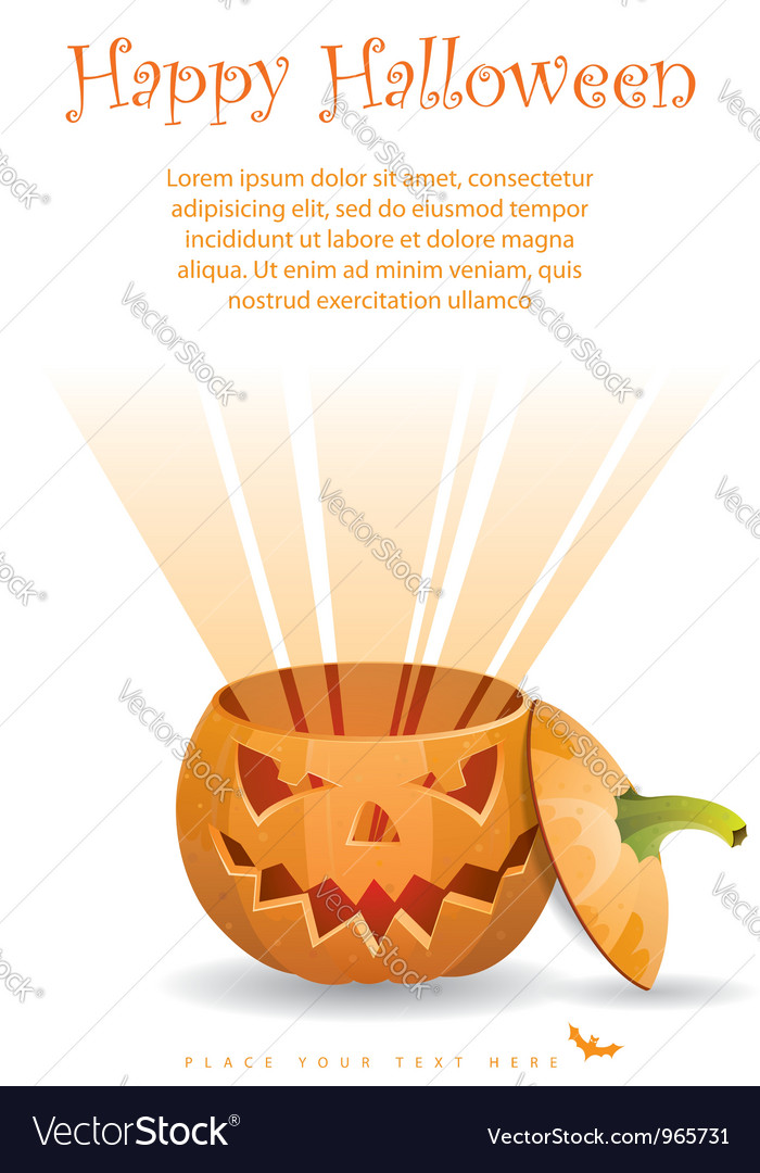 Greeting card halloween vector | Price: 1 Credit (USD $1)