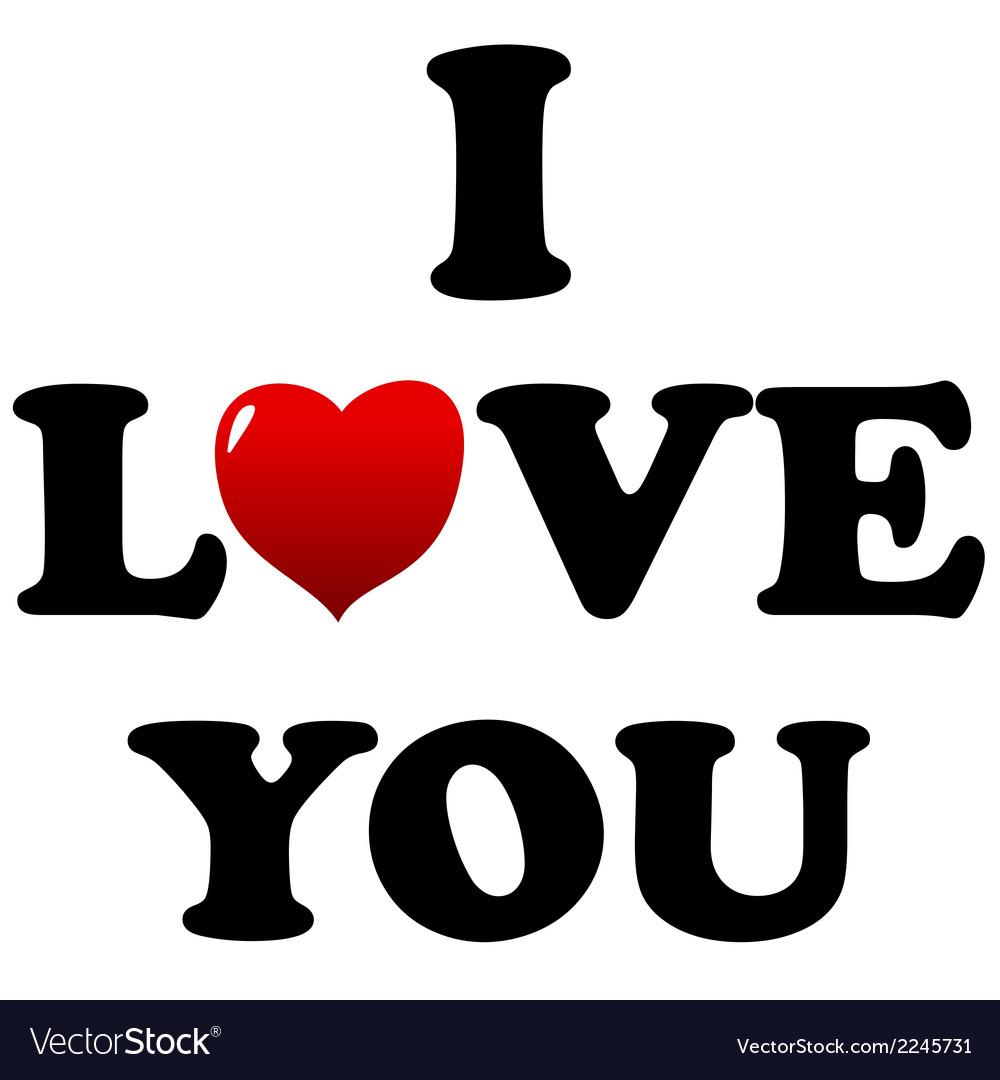 I love you symbol vector | Price: 1 Credit (USD $1)