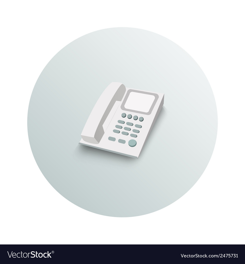 Landline phone business concept vector | Price: 1 Credit (USD $1)