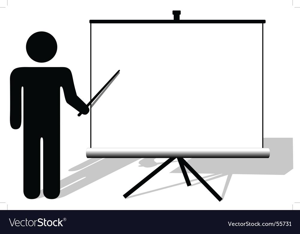 Presentation board vector | Price: 1 Credit (USD $1)