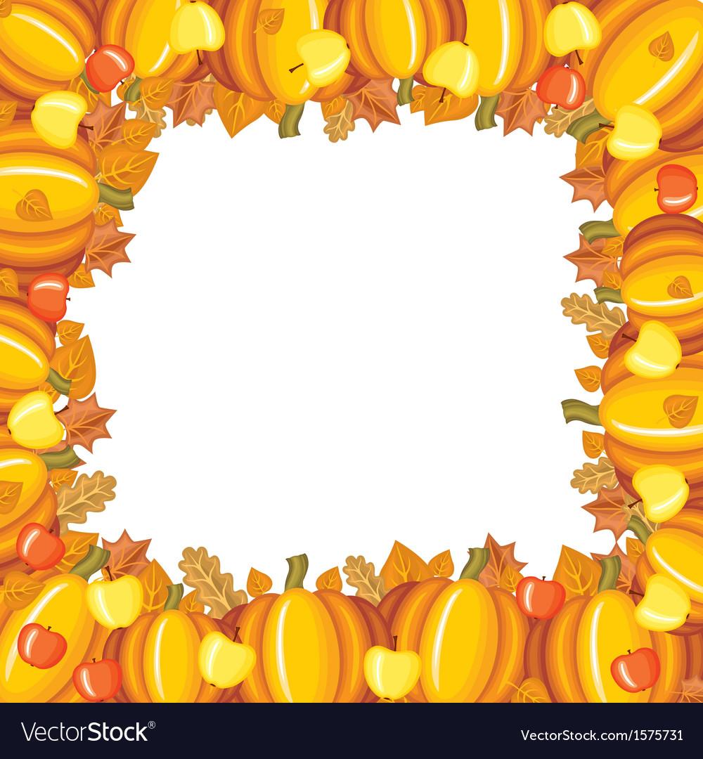 Pumpkin apple frame vector | Price: 1 Credit (USD $1)