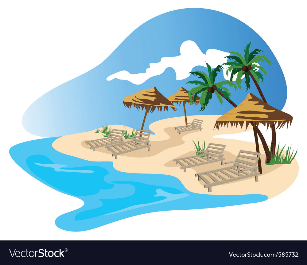 Beach resort vector | Price: 1 Credit (USD $1)