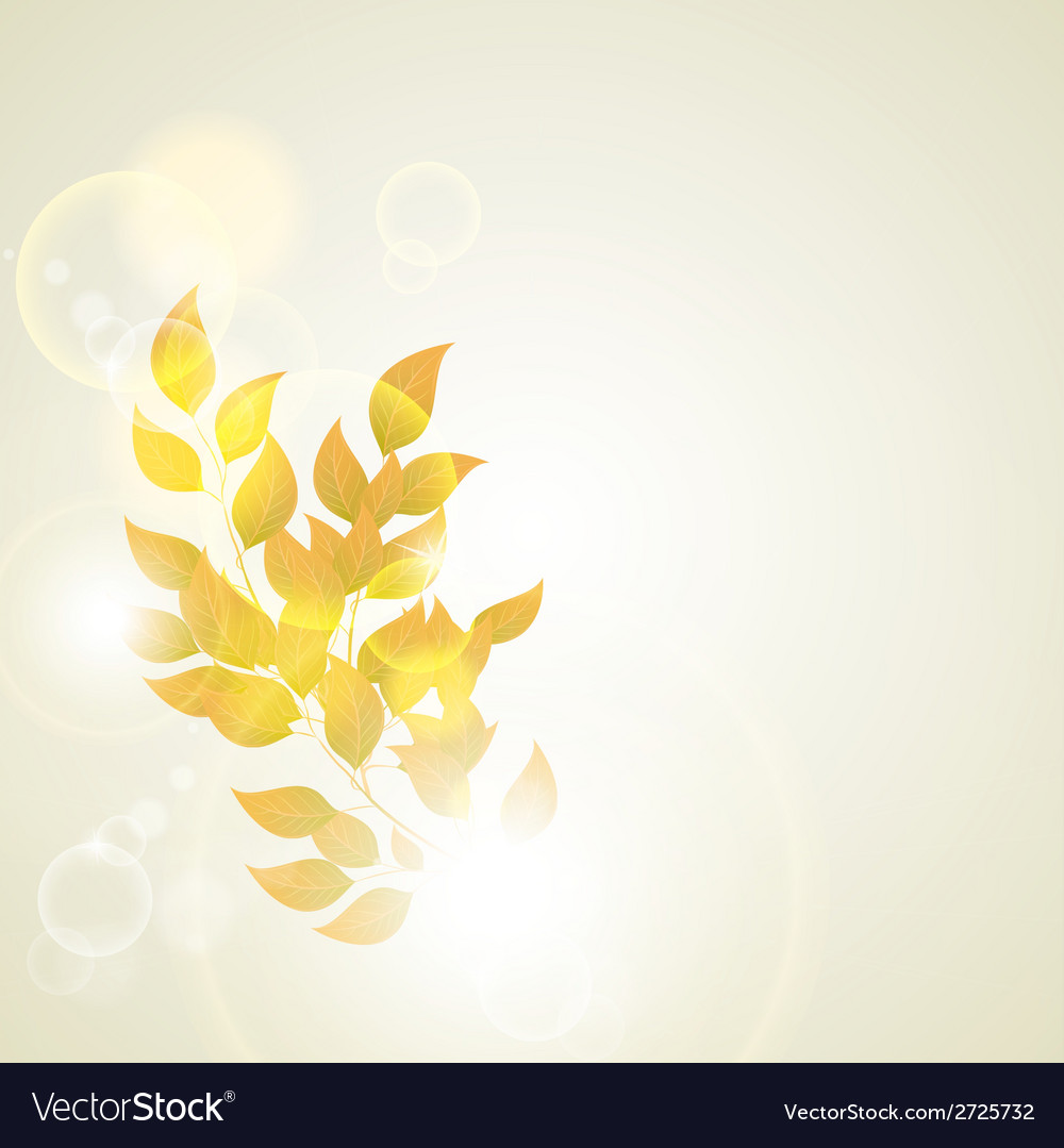 Beautiful autumn background vector | Price: 1 Credit (USD $1)