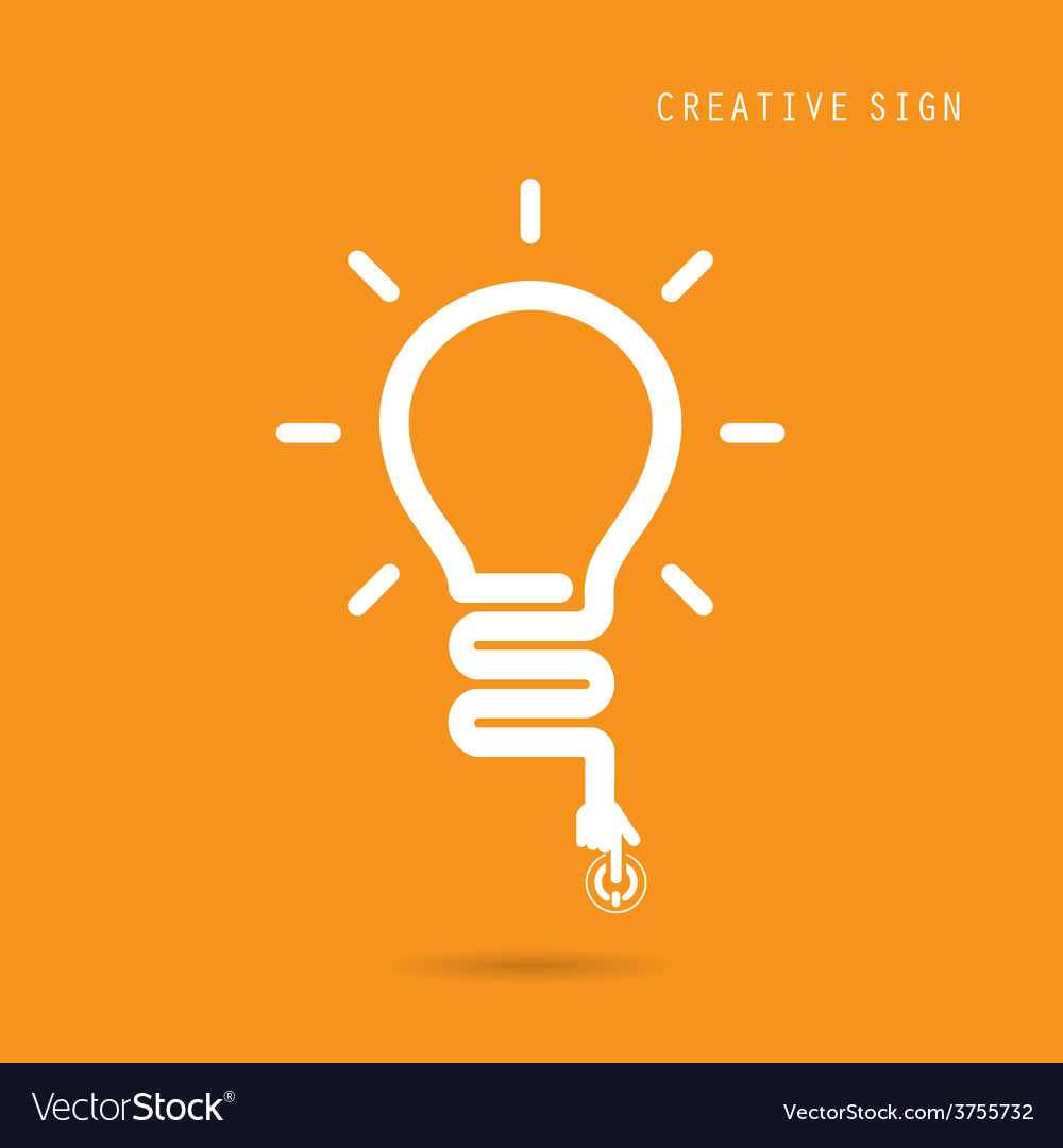 Creative light bulb concept vector | Price: 1 Credit (USD $1)
