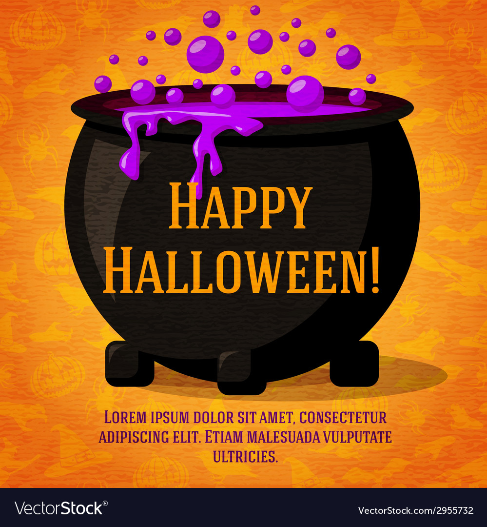Happy halloween cute retro banner on craft paper vector | Price: 1 Credit (USD $1)